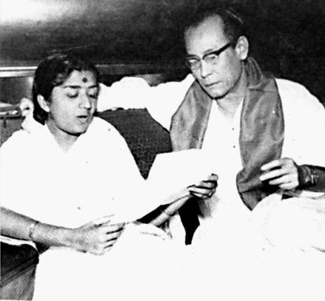 Lata with Sachin Dev Burman