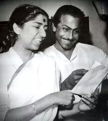 Lata with Salil Chowdhury