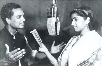 Lata with Anil Biswas