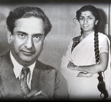 Lata with Ghulam Haider