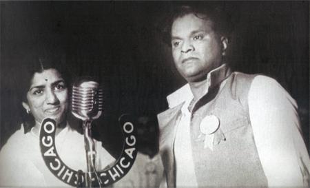 Lata with Vasant Desai
