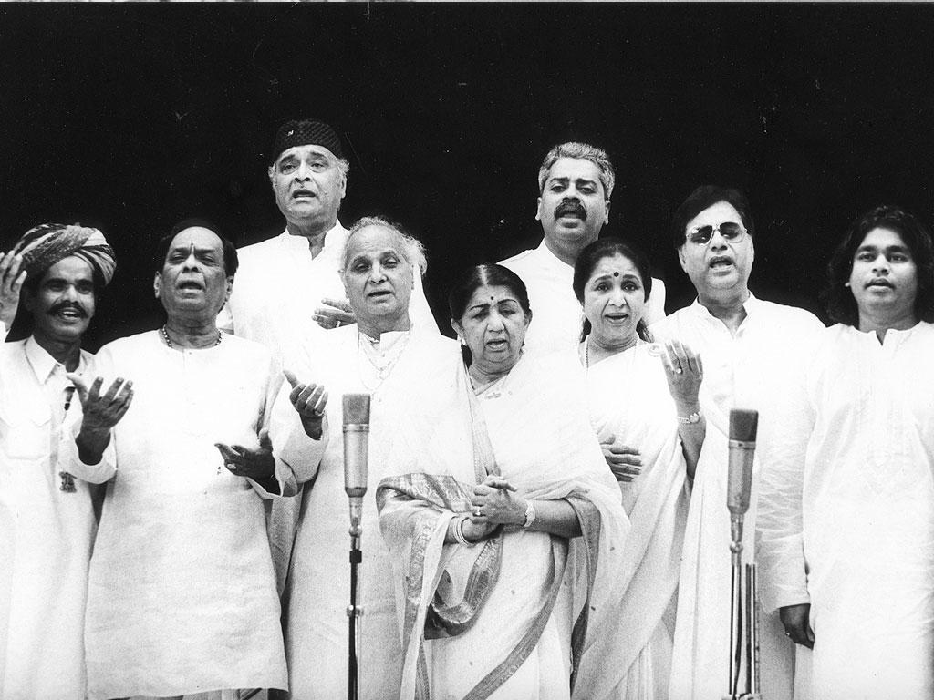 Lata with Balmurali Krisha, Bhupen Hazarika, Pt.Jasraj, Hariharan, Asha, Jagjit Singh and A.R. Rahman