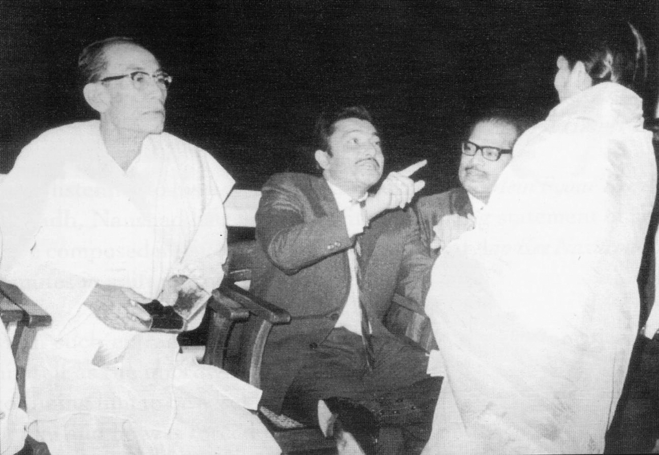 Lata with SD Burman, Madan Mohan and Manna Dey