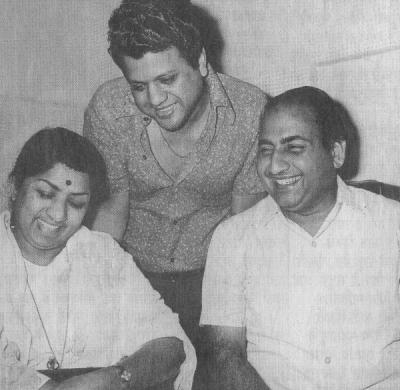 Lata with Jaikishan and Mohd. Rafi