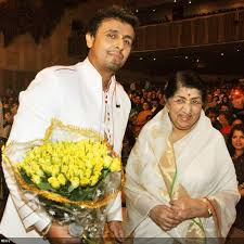 Lata with Sonu Nigam