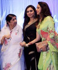 Lata with Rani Mukherji and Hema Malini