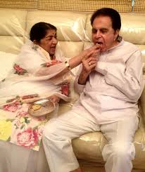 Lata with Dilip Kumar