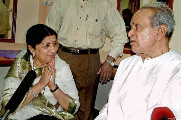 Lata with Pt. Bhimsen Joshi