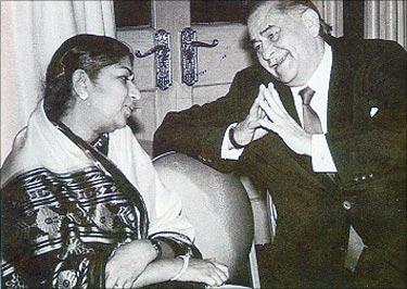 Lata with Raj Kapoor