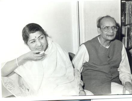 Lata with Pt. Narendra Sharma