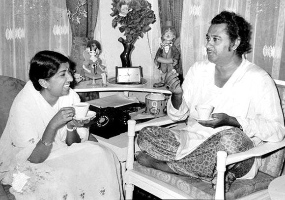 Lata with Kishore Kumar