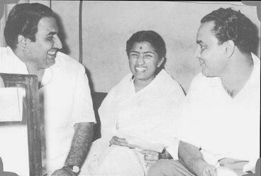 Lata with Mohammed Rafi and Mukesh