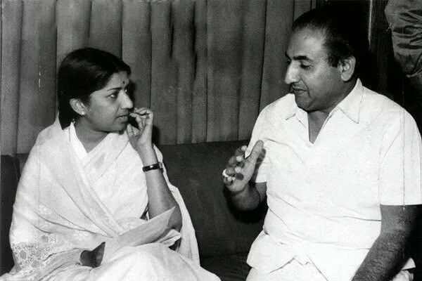 Lata with Mohammed Rafi