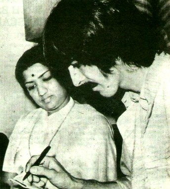 Lata with George Harrison (from Beatles)