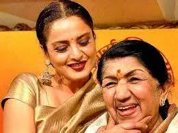 Lata with Rekha