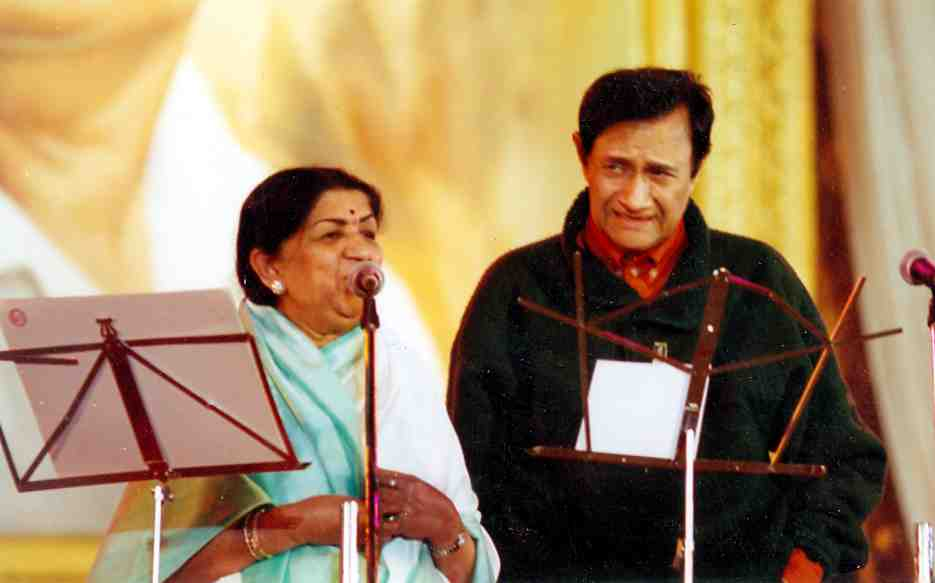 Lata with Dev Anand