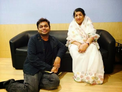 Lata with A.R. Rahman