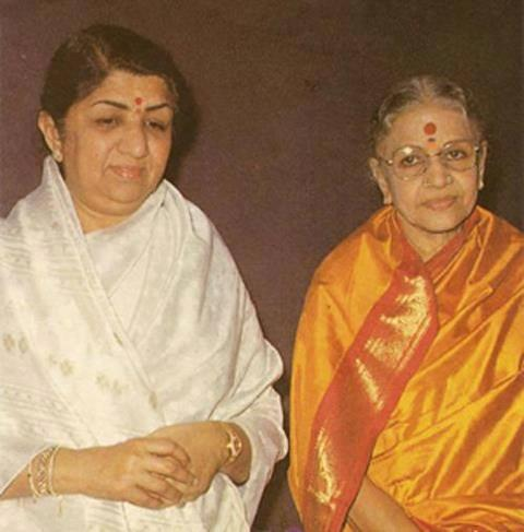Lata with M.S. Subbalaxmi