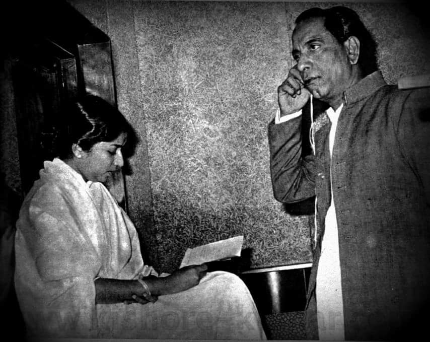 Lata with Ghulam Mohammed