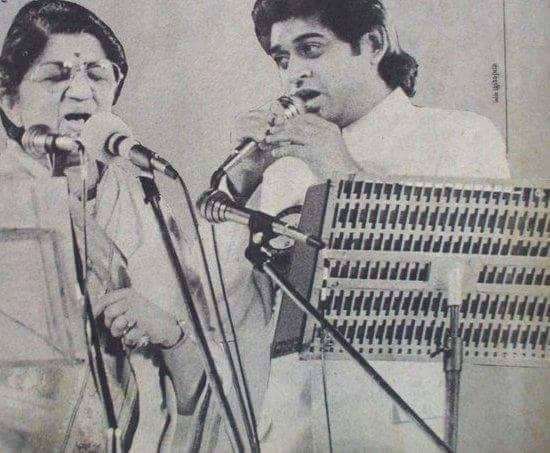 Lata with Amit Kumar